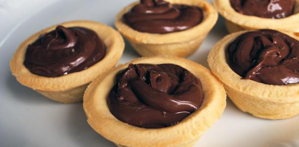 empadinhas de chocolate